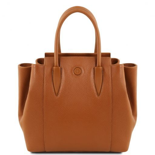 Tulipan Leather handbag Cognac TL141727