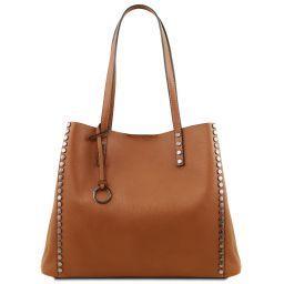 TL Bag Borsa shopper in pelle morbida Cognac TL141735