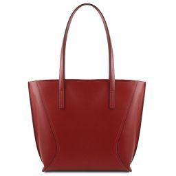Nemesi Borsa shopper in pelle Rosso TL141790