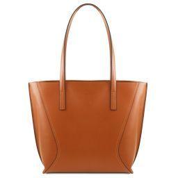 Nemesi Borsa shopper in pelle Cognac TL141790