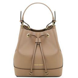 Minerva Saffiano leather secchiello bag Карамель TL141436