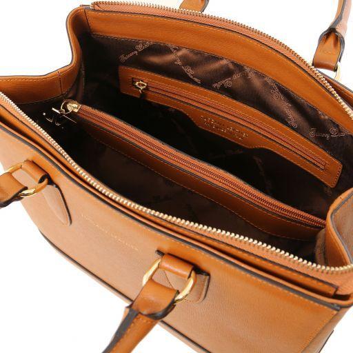 TL Bag Saffiano Ledertasche Cognac TL141638