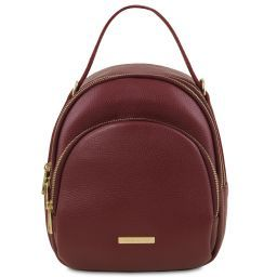 TL Bag Zaino donna in pelle Bordeaux TL141743
