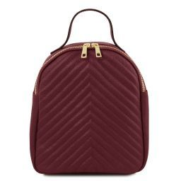 TL Bag Zaino donna in pelle Bordeaux TL141737