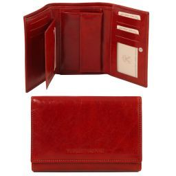 Exclusive leather wallet for women Red TL141314