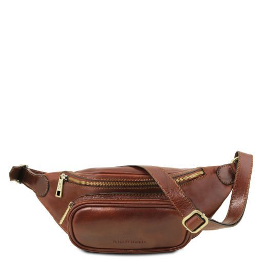 Leather Fanny Pack Коричневый TL141797