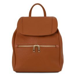 TL Bag Soft leather backpack for women Cognac TL141697