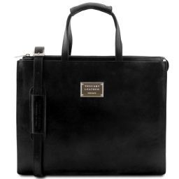 Palermo Leather briefcase 3 compartments for woman Черный TL141343