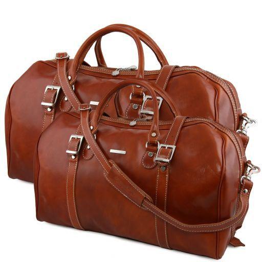 Berlin Leather travel set Honey TL10175
