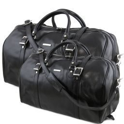 Berlino Set da viaggio in pelle Nero TL10175