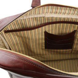 Urbino Cartella in pelle porta computer con tasca frontale Miele TL141241