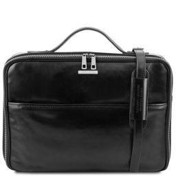 Vicenza Leather laptop briefcase with zip closure Черный TL141240