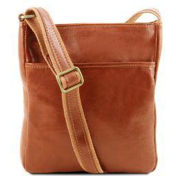 Jason Leather Crossbody Bag Honey TL141300