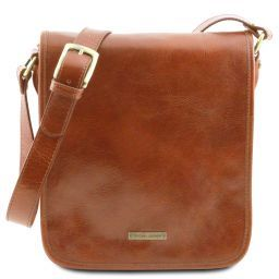 TL Messenger Кожаная сумка на плечо с 2 отделениями Мед TL141255