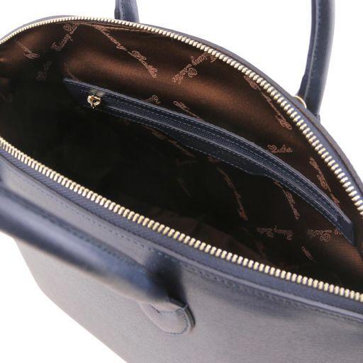 TL KeyLuck Bolso de mano en piel Saffiano - Misura pequeña Azul oscuro TL141265
