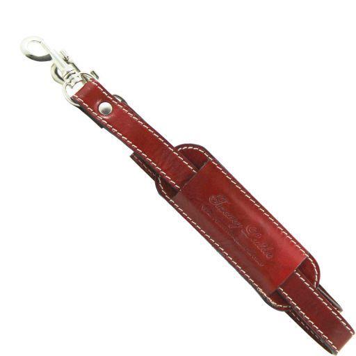 Adjustable travel bag leather shoulder strap Red SP141028