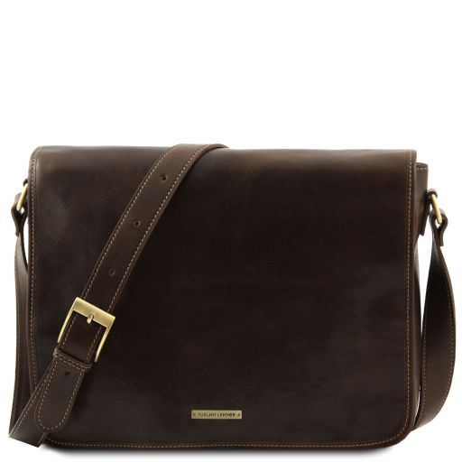 954e49e7eb Messenger double Freestyle - Borsa in pelle Testa di Moro TL90475 ...