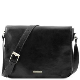 Messenger double Freestyle - Кожаная сумка Черный TL90475