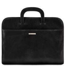 Sorrento Document Leather briefcase Black TL141022