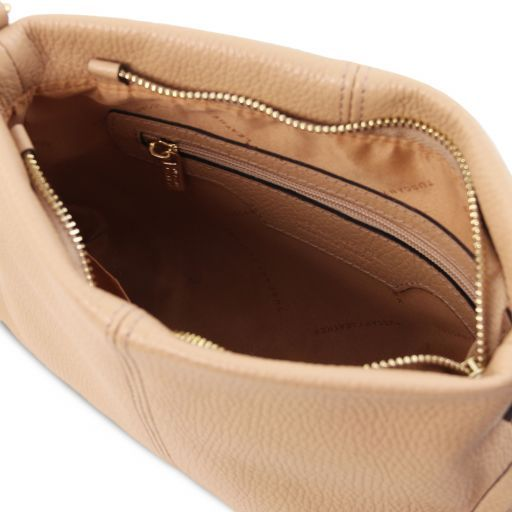 TL Bag Soft leather shoulder bag Champagne TL141720