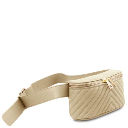 TL Bag Soft leather fanny pack Beige TL141741