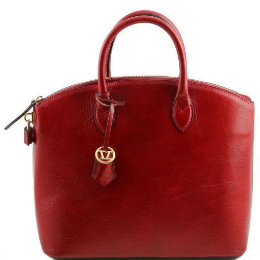 TL Bag Shopper Tasche aus Leder Rot TL141263