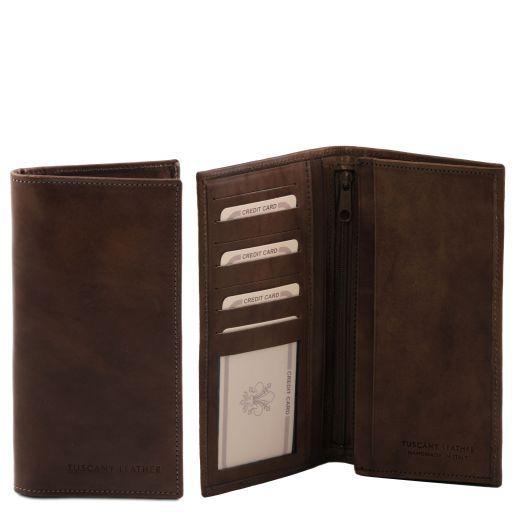 Esclusivo portafoglio verticale in pelle uomo 2 ante Testa di Moro TL140777