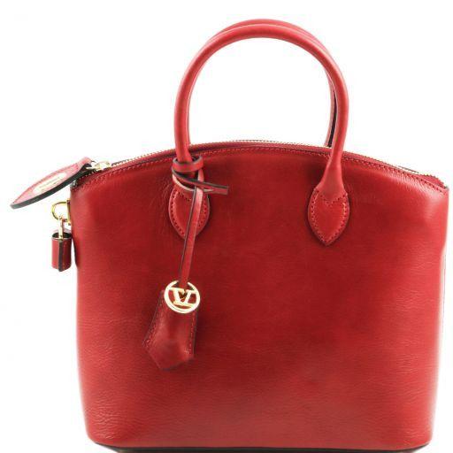 TL Bag Borsa shopper in pelle - Misura piccola Rosso TL141264