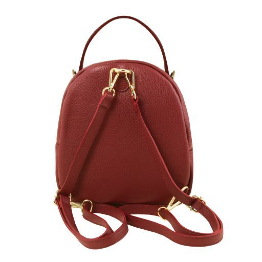 TL Bag Leather backpack for women Red TL141743