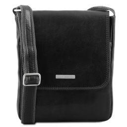 John Herrentasche aus Leder mit Reißverschlussfach Schwarz TL141408