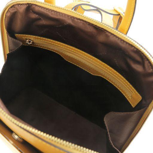 TL Bag Zaino donna in pelle Saffiano Senape TL141631