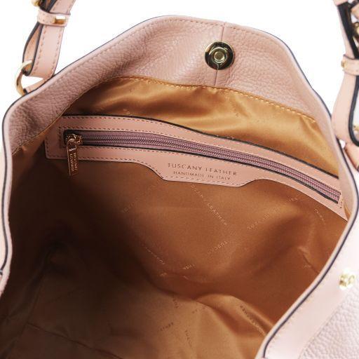 Ambrosia Cityshopping aus weichem Leder mit Tragegurt Nude TL141516
