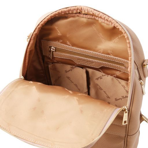 TL Bag Lederrucksack für Damen aus weichem Leder Champagne TL141376