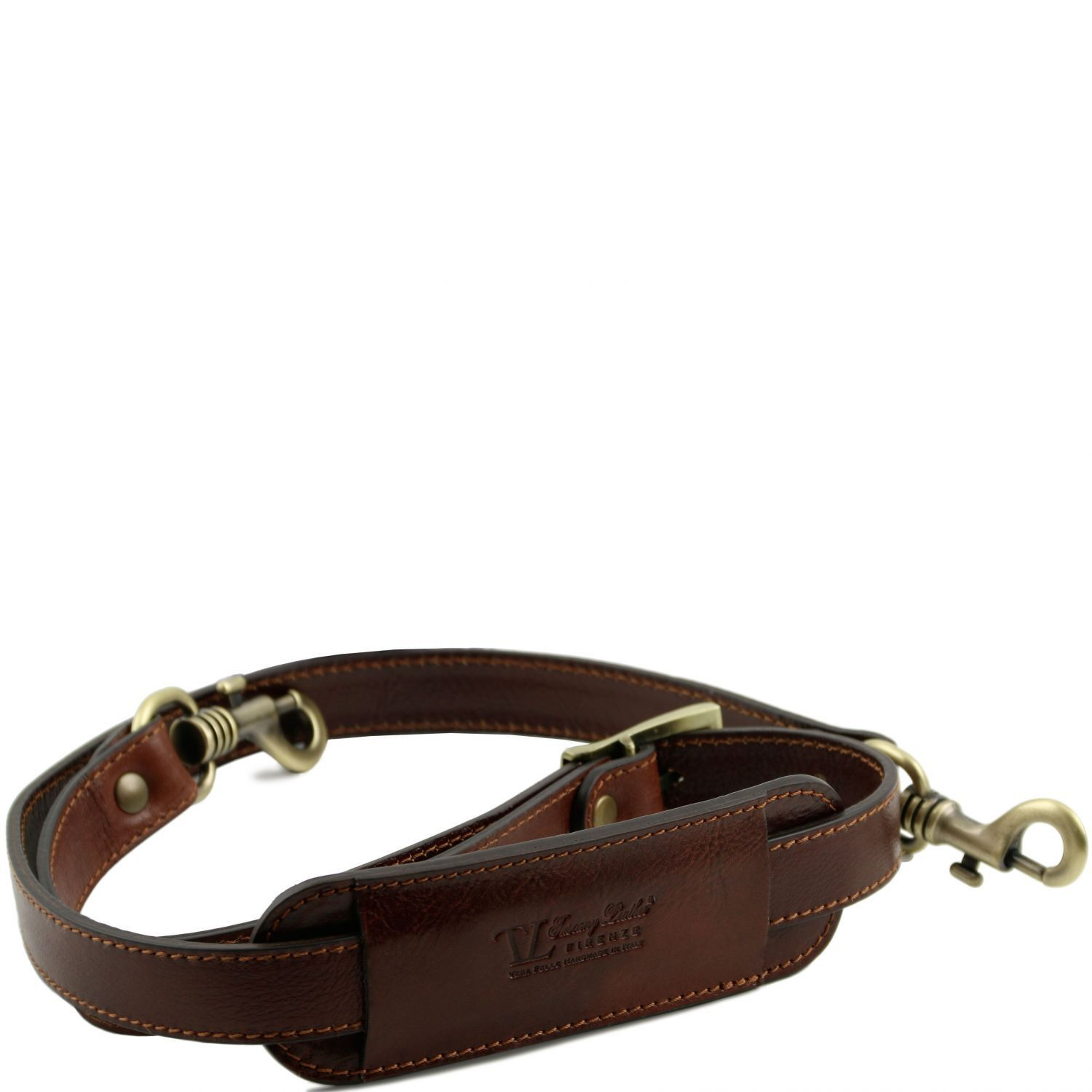 Abbildung von Adjustable leather shoulder strap Brown