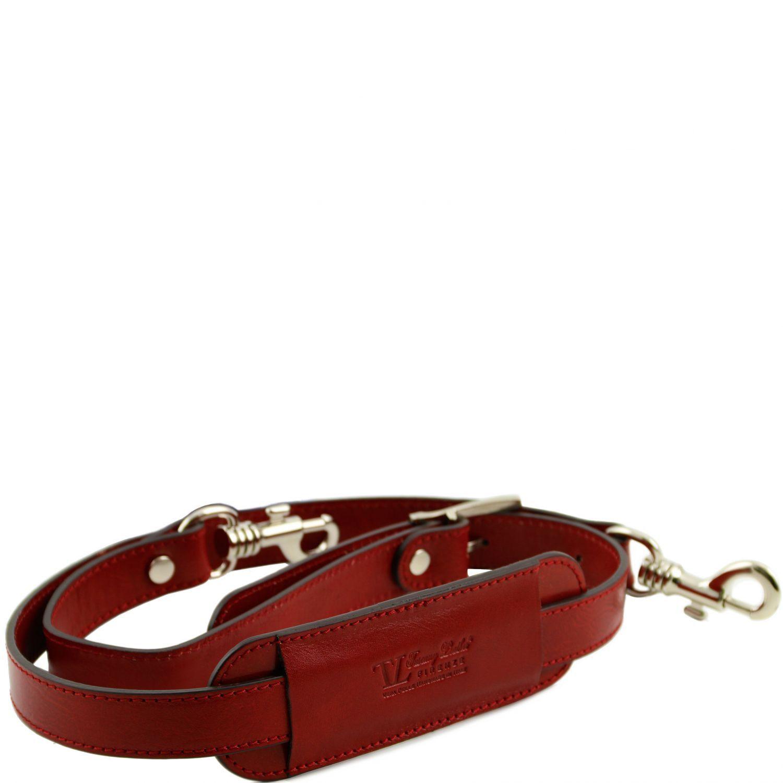 Bild av Adjustable leather shoulder strap Red