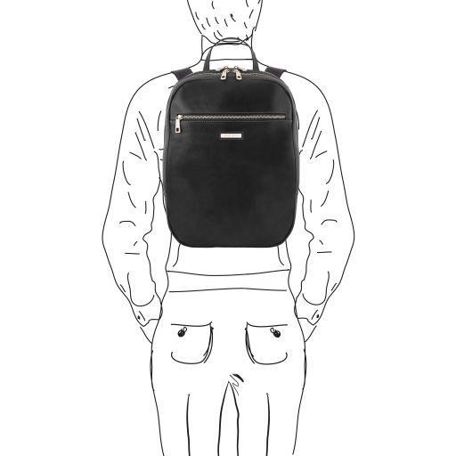 Osaka Zaino porta notebook in pelle Nero TL141711