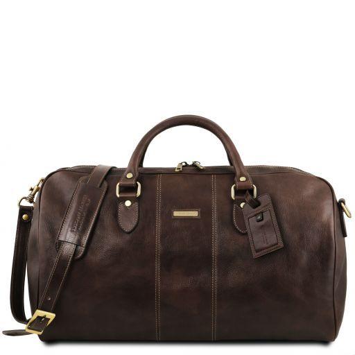 Lisbona Дорожная кожаная сумка-даффл - Большой размер Темно-коричневый TL141657