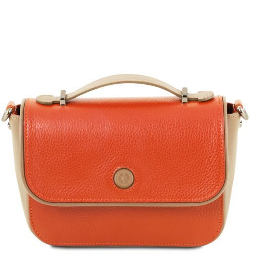 Primula Leather clutch handbag Brandy TL141725