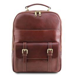 Nagoya Leather laptop backpack Brown TL141857