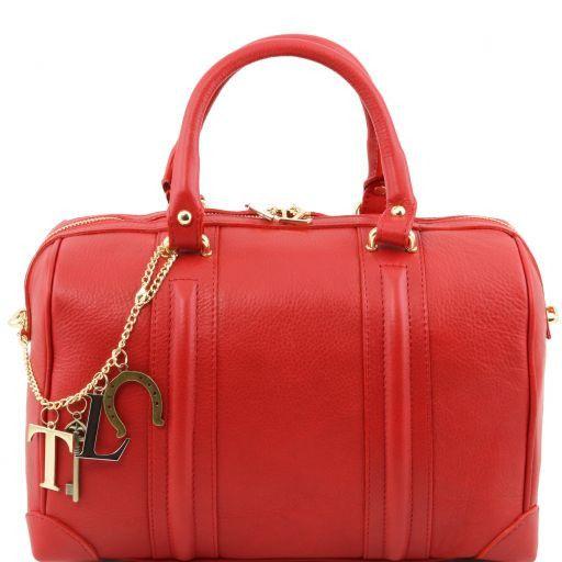 TL KeyLuck Bauletto in pelle morbida con accessori color oro Rosso TL141284