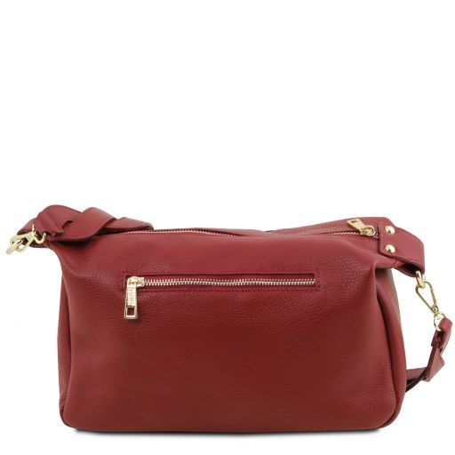 TL Bag Soft leather duffle bag Red TL141746