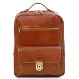 Kyoto Notebook Rucksack aus Leder Honig TL141859