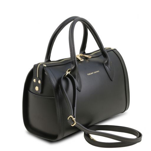Elena Leather duffle bag Black TL141829