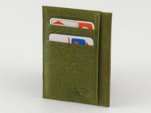 Portacarte di credito in pelle Verde TL140213