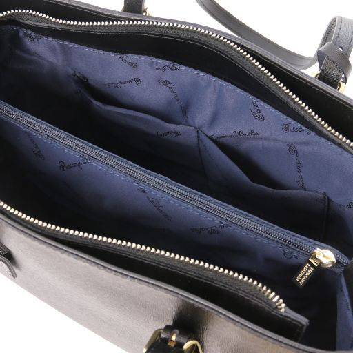 TL Bag Bolso noche en piel Saffiano Negro TL141518