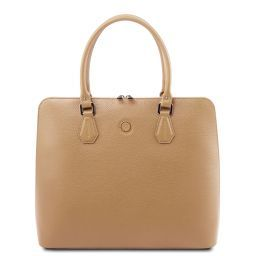 Magnolia Damen Business Tasche aus Leder Champagne TL141809