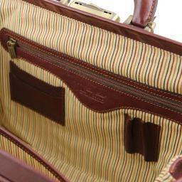 Bernini Elegante bolso de doctor en piel Marrón oscuro TL141298