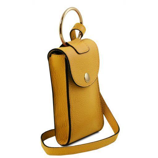 TL Bag Mini Schulter-Handytasche aus Leder Senf TL141865
