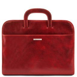 Sorrento Document Leather briefcase Red TL141022