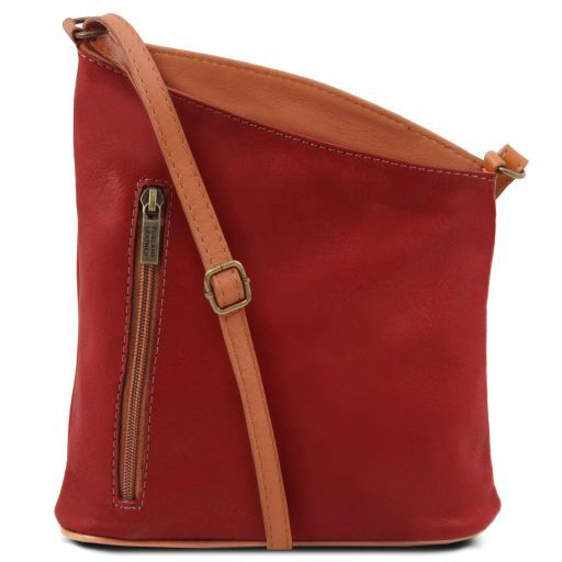 TL Bag Tracollina unisex in pelle Rosso TL141111